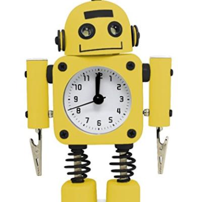betus non ticking robot alarm clock stainless metal wake up clock - Nightmare Before Christmas Cuckoo Clock