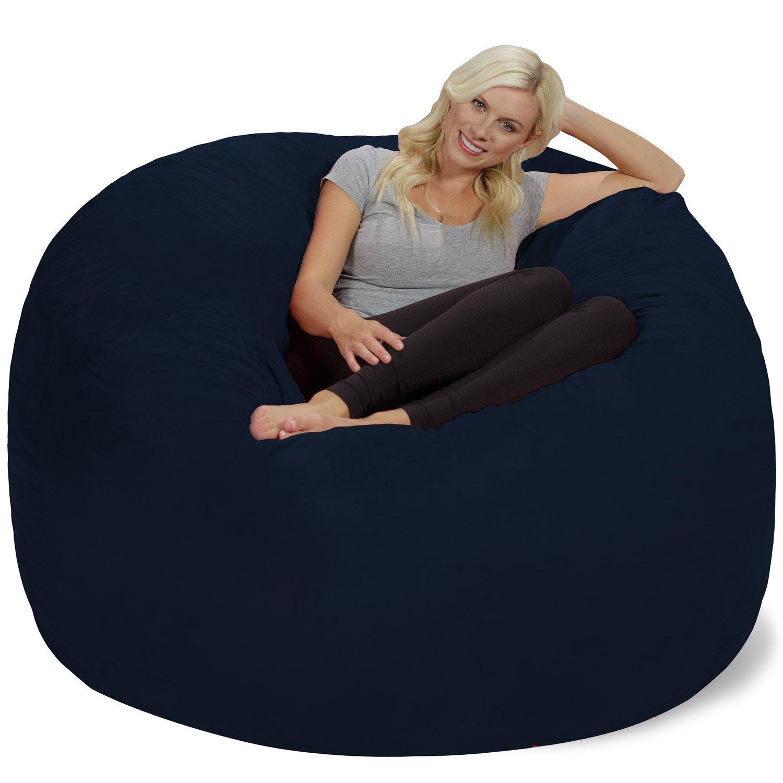 Chill Sack Bean Bag Chair Giant 6 Feet Memory Foam Furniture