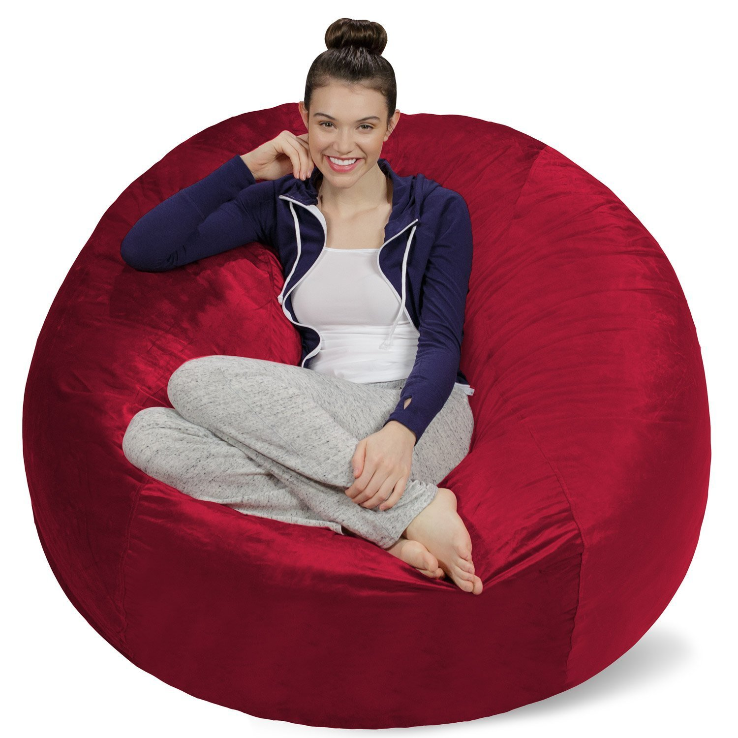 Sofa Sack U2013 Bean Bags Bean Bag Chair, 5 Feet, Cinnabar